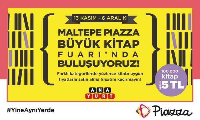 Maltepe Piazza Büyük Kitap Fuarı'nda Buluşuyoruz!