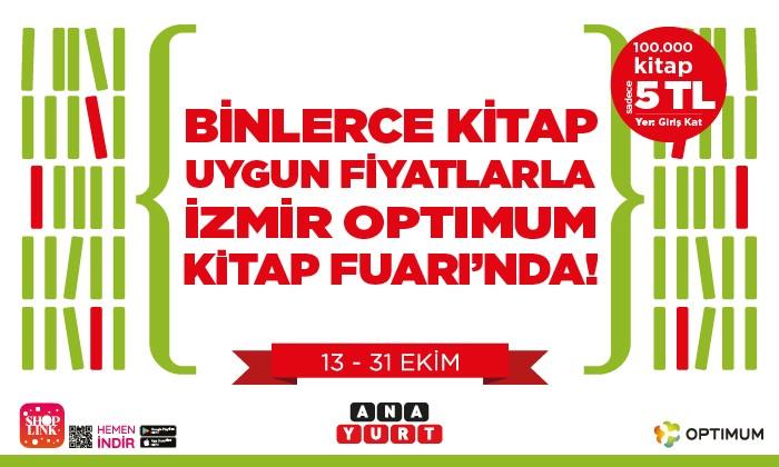 Binlerce Kitap Uygun Fiyatlarla İzmir Optimum Kitap Fuarı'nda!