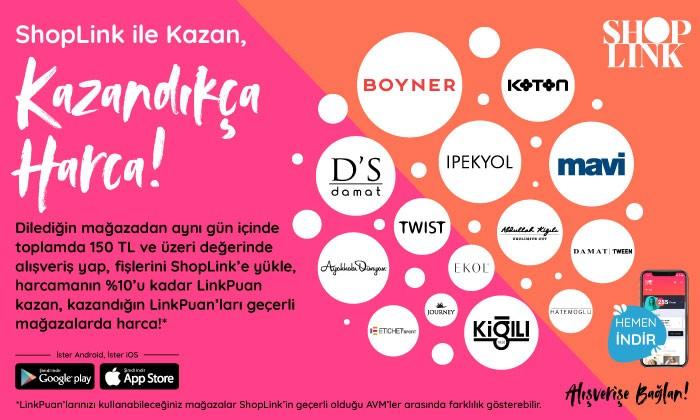 Shoplink İle Kazan, Kazandıkça Harca!